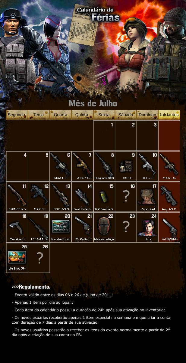 Calendario de ferias do point blank pbsite for Calendario ferias