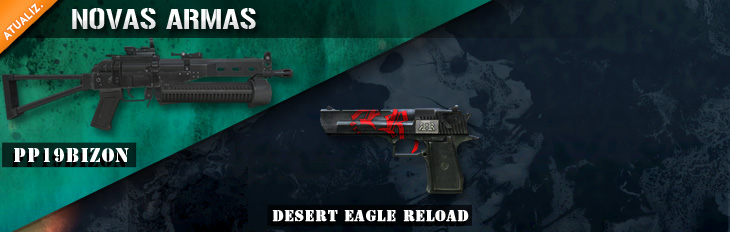 Novas PP-19 Bizon e Desert Eagle Reload