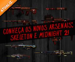 Novas Armas - Midnight2 e Skeleton!